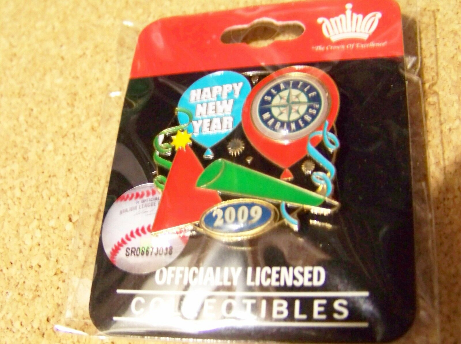 2009 Seattle Mariners Party New Years pin