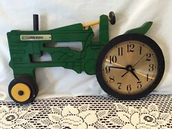 John Deere Tractor Hand Made Wood Wall Clock Unique Working