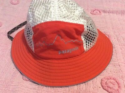 111d6427622 Rare Patagonia Duckbill Bucket Hat Orange Fitz Roy Authentic Dead Stock One  Size