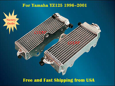 For Yamaha YZ125 1996-2001(1997 1998 1999 2000) Aluminum radiator