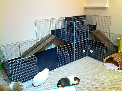 Correx Corrugated Plastic Sheets X 3 Black- Pet Cage & Hutch Floor Cover Cubes