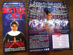 Sister-Act-ad-flyer-Broadway-musical-NYC-Raven-Symone-RARE-show-is-touring