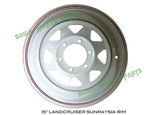 Sunraysia-15-LANDCRUISER-RIM-White-Trailer-Parts