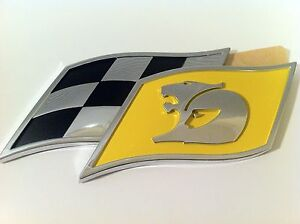 HSV VE VF YELLOW Checkered Flag Badge CLUBSPORT R8 SENATOR GTS MALOO GENUINE NEW
