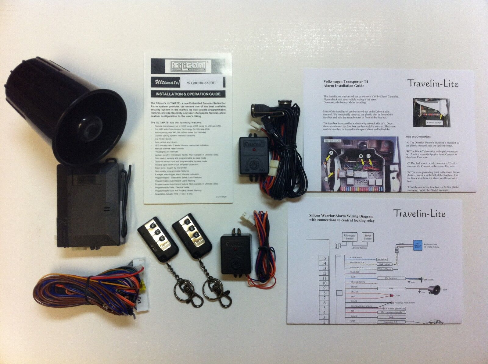 details about for vw t4 transporter / caravelle alarm system brand new