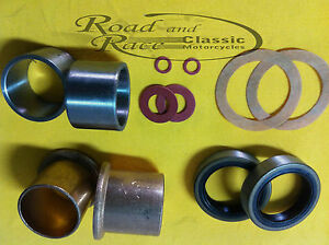 Norton Roadholder Fork Overhaul Seal Bush Kit, Commando, Atlas, Dominator