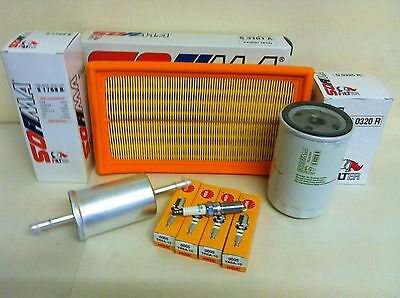 Ford Focus Mk1 1.6  Petrol Service Kit 1998-07/02  Air Oil Fuel Filter NGK Plugs