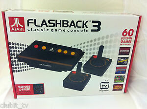 Atari flashback 3 classic retro plug play game console 60 built in games new - Atari flashback 3 classic game console ...