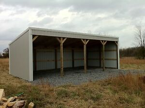 POLE BARN 12X40 LOAFING SHED MATERIAL LIST BUILDING PLANS HOW-TO!