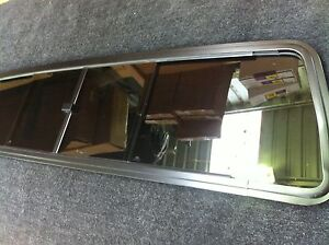 67-72 FORD F100 PARTS REAR SLIDING GLASS WINDOW TINTED WITH BLACK ALLOY FRAME