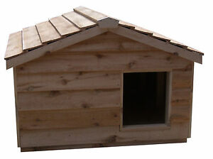 Heated Extra Large Insulated Cedar Outdoor Cat House Small