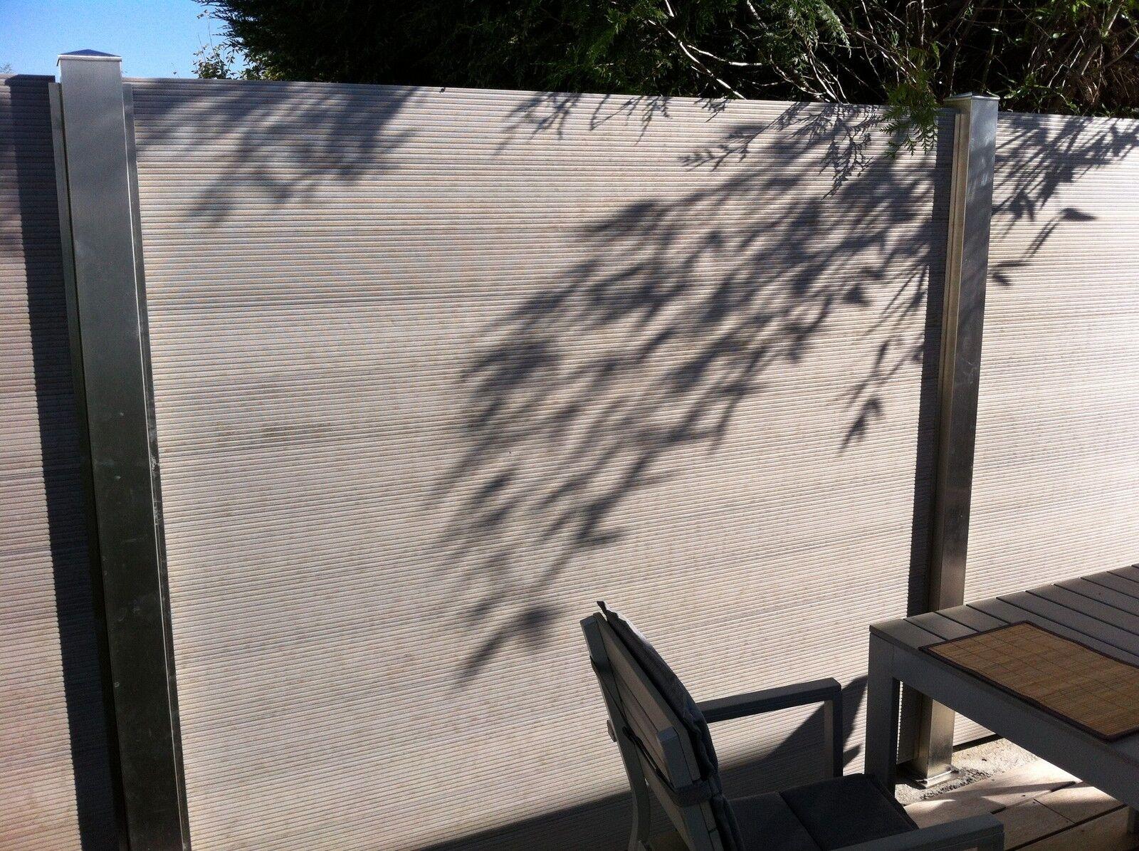 wpc sichtschutz zaun windschutz garten holz kunststoff sichtschutzzaun terrasse eur 19 90. Black Bedroom Furniture Sets. Home Design Ideas