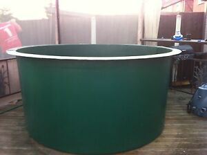 750 gallon fibreglass koi vat holdingtank pond quarantine for Koi pond gallons