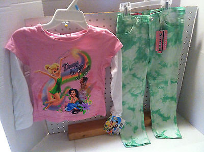 Girls One Step Up Toddler Jeans 4 T & Disney Shirt