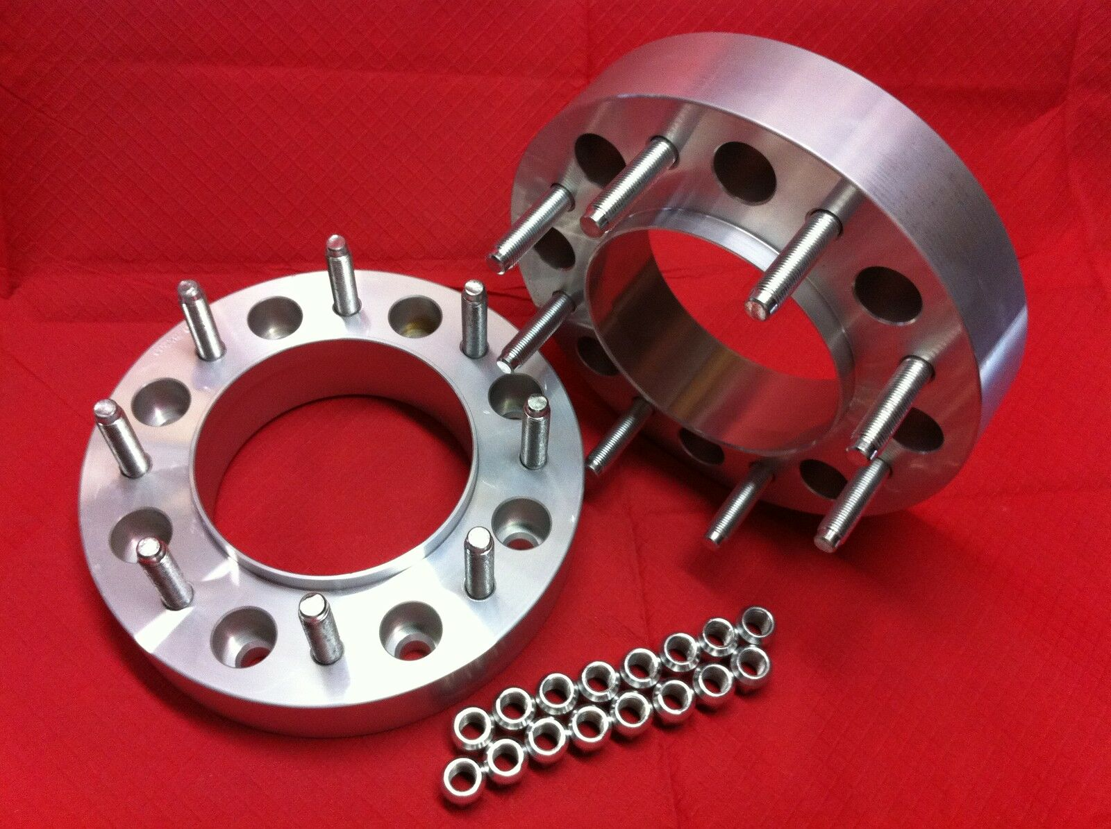 8x200 Ford - 2007-17 Dually F350 Wheels Spacers Adapters Billet 2 Hub Centric.