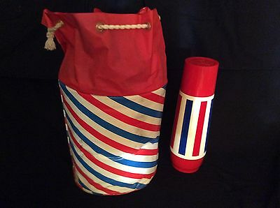 Vintage Regal Food Tote Picnic Carrier & Thermos