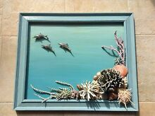 Sea theme picture, 3D, handmade using shells and coral. Fremantle Fremantle Area Preview