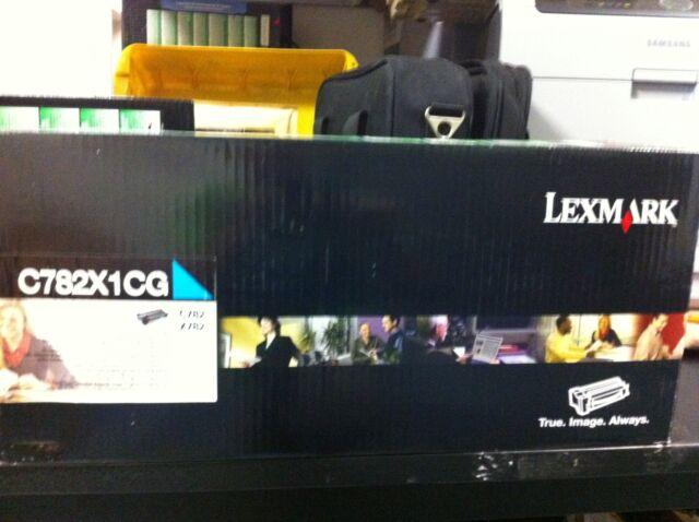 original Lexmark Toner C782X1CG cyan blau C782  X782 neu A-Ware