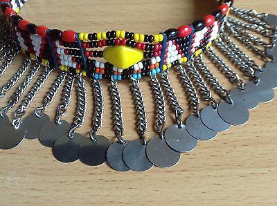 African-Arena Maasai Masai Handmade Tribal Ethnic Beaded Choker Necklace AA62