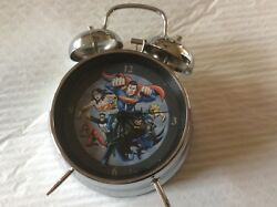 Justice league double bell clock.  WB Superman, Batman, super women .....etc.