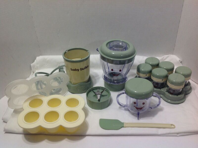 Baby Bullet Blender Food Storage Cups With Lids And Tray