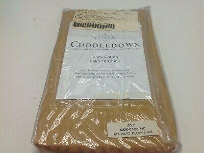 Jacquard-400-thread ( CUDDLEDOWN Standand Sham Pillow Case Gold Jacquard 400 Thread Count New)
