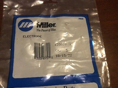 Miller 125039 Electrode For Plasma Cutter 5 Pack
