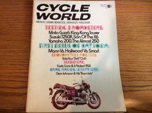 VTG CYCLE WORLD MAGAZINE JUNE 1971