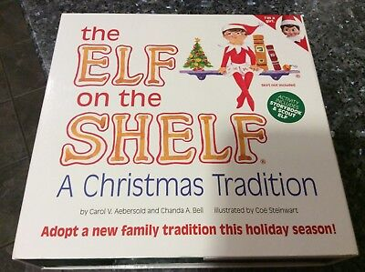 THE ELF ON THE SHELF STORYBOOK & GIRL SCOUT ELF DOLL CHRISTMAS TRADITION SET NEW