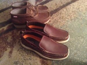TWO BEAUTIFUL SIZE 7 MENS LEATHER SHOES CLARKS PALMER