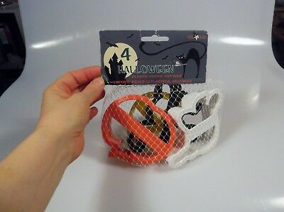 Plastic Cookie Cutters Set Ghost Pumpkin Black Cat Moon New (Cookie Run Halloween)