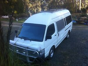 Toyota hiace campervan Franklin Huon Valley Preview