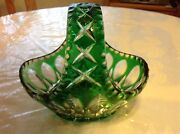 Cut Glass Crystal Basket
