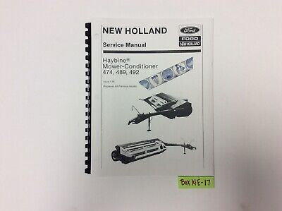 New Holland 474 489 And 492 Haybine Mower-conditioner 1-90 Service Manual