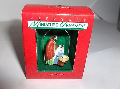 Holy Family`1988`Miniature-Mary,Joseph & Baby,Hallmark Christmas Ornament-: New