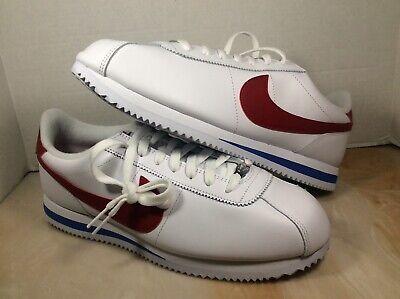 Nike Cortez Basic leather OG men shoe size 11.5 white red blue