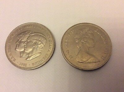 Elizabeth II Crown coin 1981 Charles Prince of Wales and Lady Diana