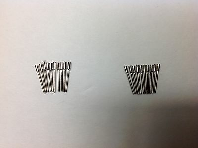 20 Watch Stem Extender/Extensions  0.9MM and 0.7MM 10pec each Stainlees steel