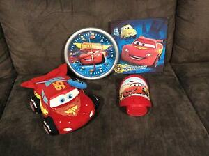 Disney cars decor toys (clock canvas night light lightning McQueen) Latrobe Latrobe Area Preview