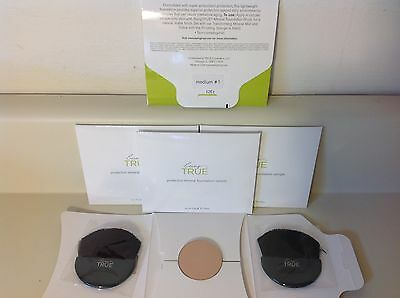 5 Being True Protective Mineral Foundation Pressed Powders- Med 1 ~ .45 oz total