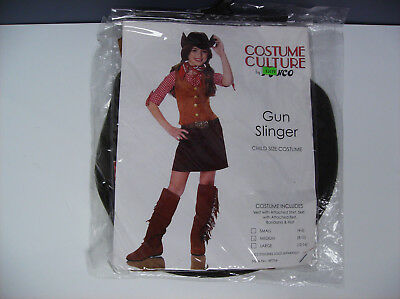 Gunslinger Girl Costume (FRANCO GUN SLINGER COWGIRL CHILD HALLOWEEN COSTUME)