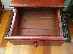 3 Draw Bed side dresser solid wood H64 x W46 x D45cm, Burwood East Whitehorse Area Preview