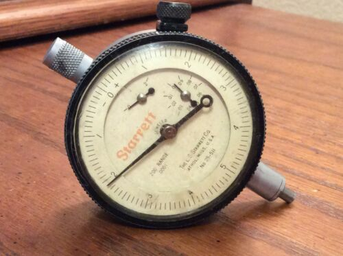 STARRETT 25-511 Dial Indicator 200 Range .0001
