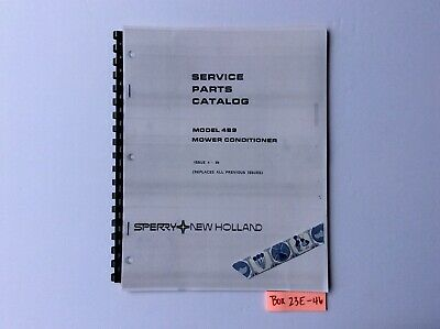 New Holland 489 Mower Conditioner 4-84 Service Parts Catalog
