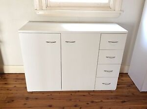 WHITE KITCHEN CABINET WITH 4 DRAWER Sans Souci Rockdale Area Preview