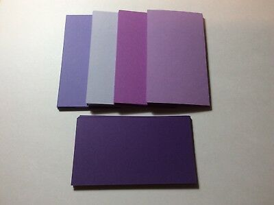 100 Blank Business Cards 5 Shades Purple 3.5 x 2, Multi, flash cards, note cards](Blank Flash Cards)