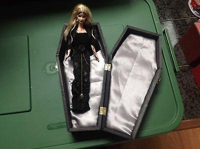 Vampiress Barbie-OOAK with casket