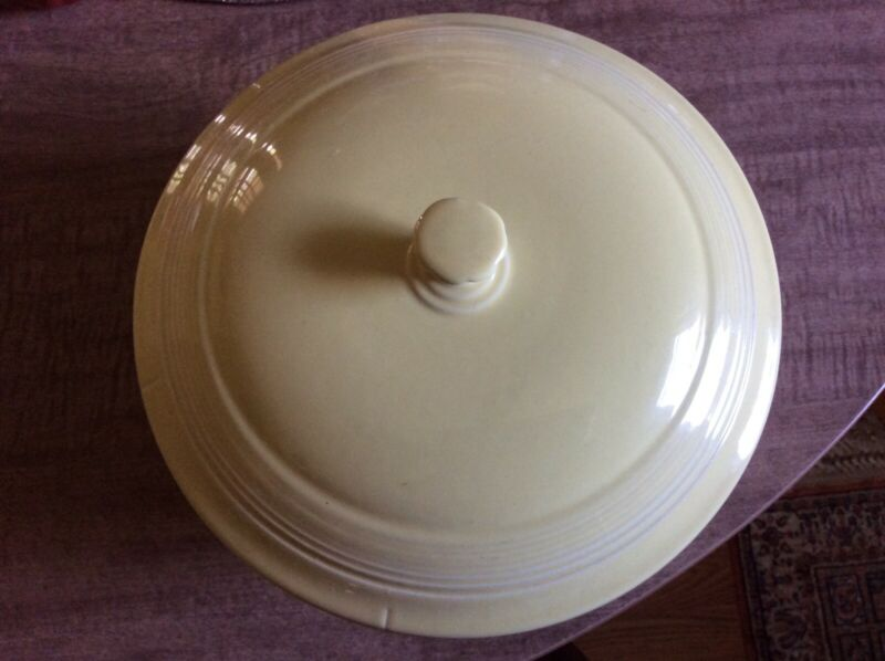 Homer Laughlin Fiesta large covered casserole 1980s yellow