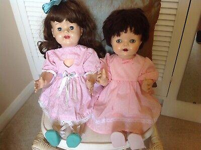 Vintage 1950s Hard Plastic Pedigree dolls X 2 (spares/Repairs)