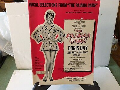 1954 Very7~ Vocal Selections from THE PAJAMA GAME Frank Music Publ. DORIS DAY